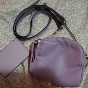Purple Crossbody & Card Holder